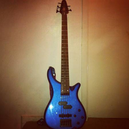 5 String Rogue Bass in Electron Blue - $150 (SATX)