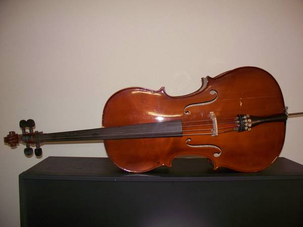 12 Palatino Cello VC 650 Tiger Stripe Maple - $250 (NW San Antonio 1604  Hwy 16)