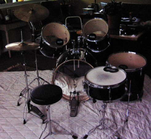 Great 5 pc. Drum Set - Groove Percussion - $225 (New Braunfels)