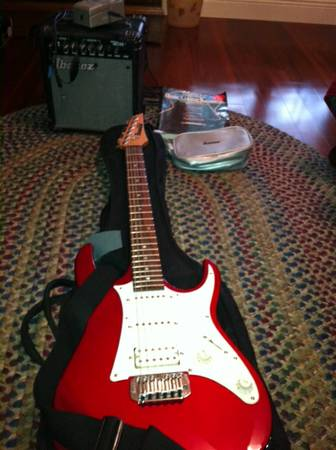 Ibanez guitar and accesories - $100 (Babcock near Prue)