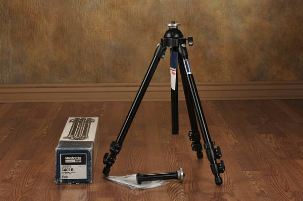 Manfrotto 3401B Convertible Camera Tripod Black - NEW -   x0024 85  Medical Center