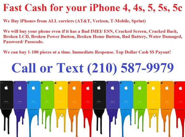 Does your phone have a Bad ESN or IMEI I buy them ALL  (San Antonio)
