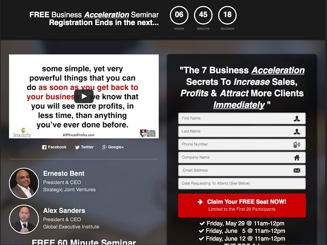 gtgtgt INSTANTLY Tranform Your Business - FREE Business Acceleration Seminar