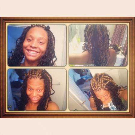 Braids, kinky twist, quick weave (NW side)