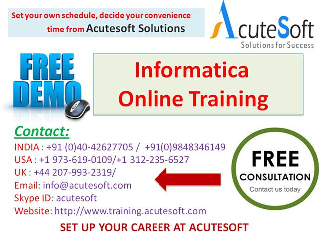 Informatica  Online Training with Project Case Studies-AcuteSoft