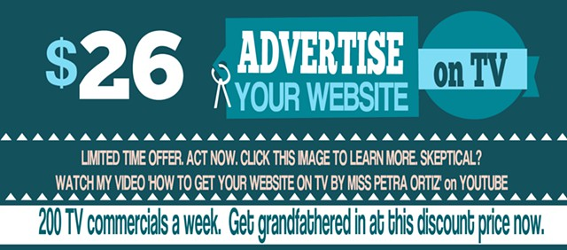 Get Your Website Advertised on TV