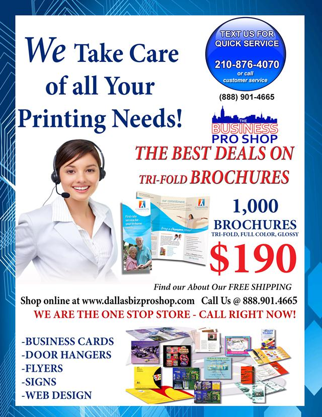 PRINT Your BROCHURES with the Pros  Great Price  1 000 for  190