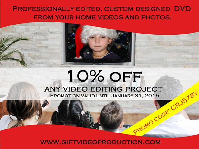 Video editing service - Home videos for life