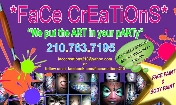 Face Painting by Face Creations (san antonio)