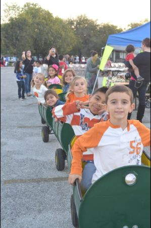 Childrens Barrel Train Ride (San Antonio)