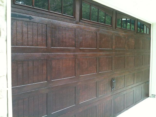 Garage Door Faux Wood Painting