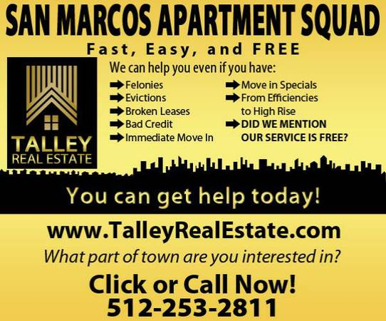 Apartment Finder - Credit, Eviction, Broken Lease Issues Here is HELP (San Antonio Surrounding Call)
