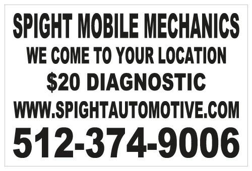 spightautomotive com MOBILE MECHANICS AUTO  amp  AC REPAIR 374-9006  Austin  Tx and surrounding areas