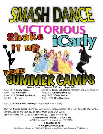 Kids Summer Camps in Cheer and Hip Hop  San Antonio