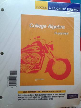 College algerbra 5th edition - $30 (Dakota ranch)