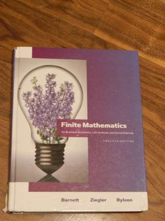 Finite Mathematics ISBN 0-321-61401-1 -   x0024 40