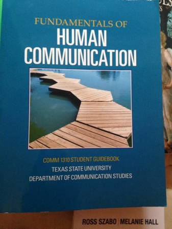 Human communications Comm 1310 student guidebook - $35 (Dakota ranch)