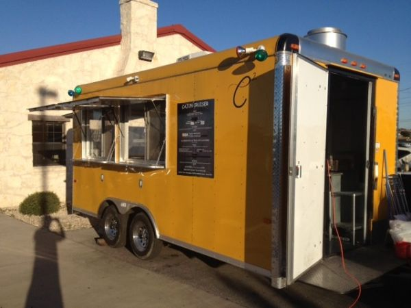 16x8.5 2011 food trailer loaded down to the register and manual - $24500 (San Marocs, Texas)