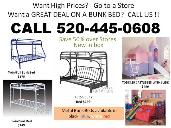 PERFRECT FOR CHILDREN OF DIFFERENT AGES -- TWIN OVER FULL BUNK BED - $395 (ORDER BY PHONE)
