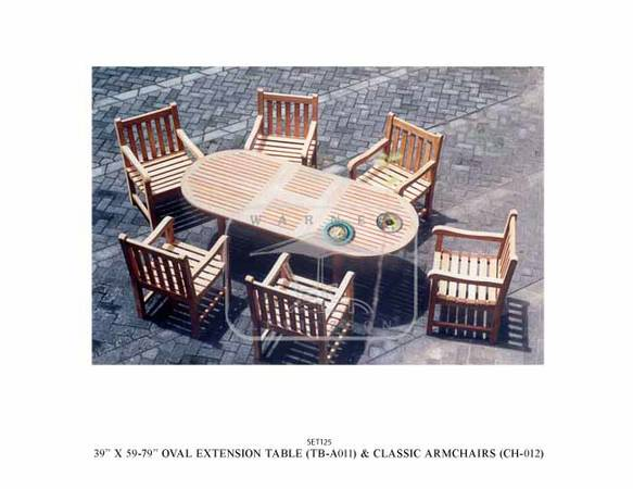 New Genuine Luxury Outdoor TEAK Furniture (San Marcos)