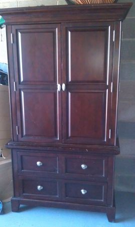 Cherry wood armoire tv cabinet-- for sale-- willing to trade for a... - $225 (Lockhart)