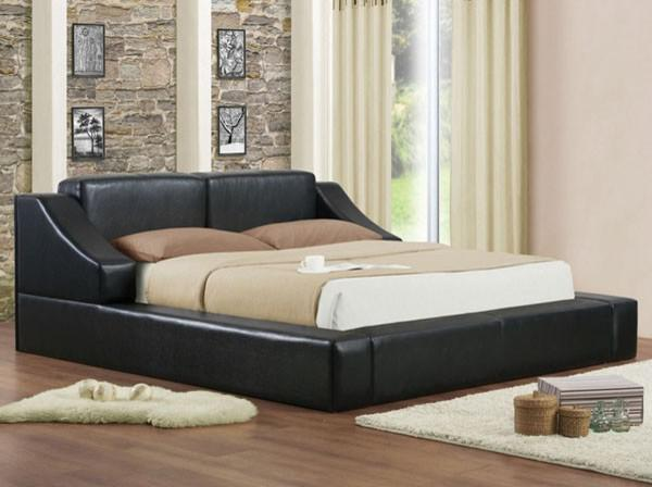 765  Franco Black PU Platform Bed