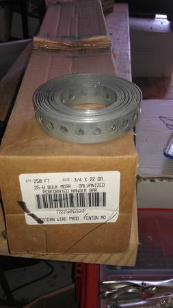 GALVANIZED PERFORATED HANGER TAPE LOT OF 25 -   x0024 30  SAN MARCOS  TX