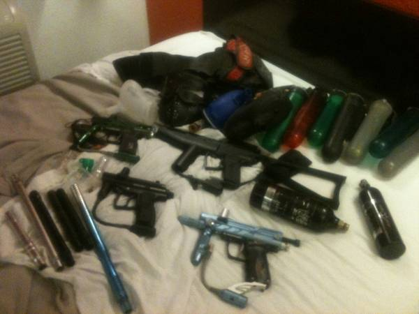 Spyder paintball guns and accessories - $250 (Sm)
