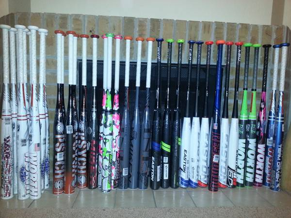Softball Bats Miken, TPS Z2000, Worth, Easton - $175 (SANE)