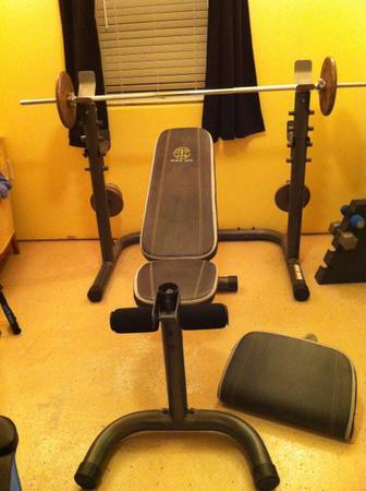 Weight lift olympic bench Golds Gym XRS - $75 (San Marcos tx)