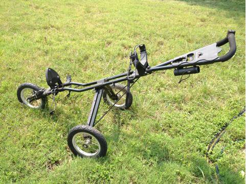Golf cart sun mountain speed cart, pull, very nice, bag holder, folds up, many e - $80 (SAN MARCOS)