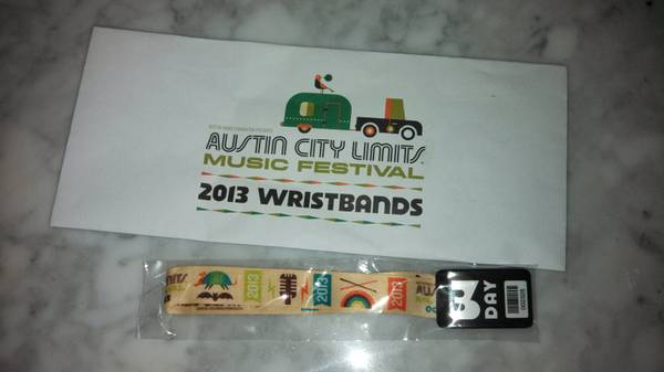 ACL 2013 3 Day Weekend Passes for Sale - $225 (San Marcos)