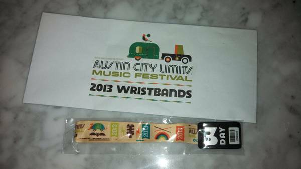 ACL 3-Day Weekend One Pass - $200 (San Marcos)