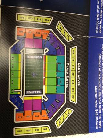 San Antonio Talons Tickets 4 Sale - $1 (San Antonio)