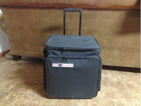 Crop In Style XXL scrapbooking rolling tote - $60 (San Marcos)
