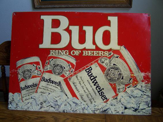$90, Budweiser King of Beer Wall Sign