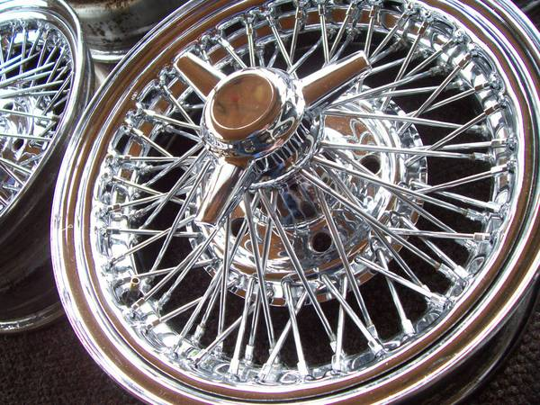 70 spoke -----------Cadillac Tru Spoke-----15x6 Wire Wheels Stainless (austin)