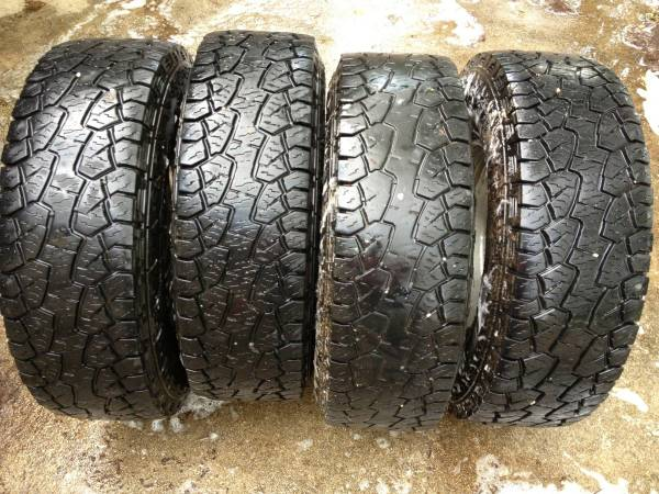 (4) 8 Lug Tires Rims for GMC 2500 Truck (Hankook DynaPro ATM) - $525 (Seguin)