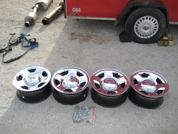 stock f150 chrome rims 17 - $125 (Hunter)