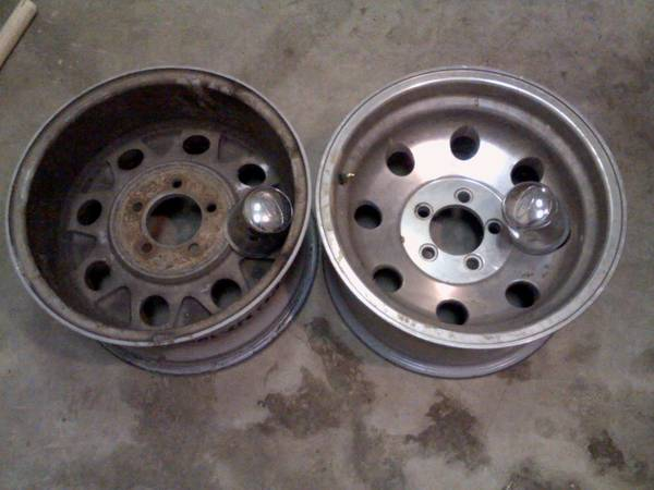 4 truck rims 15 X 8 Eagle Alloy 5 on 4.5 bolt pattern - $50 (San Marcos)