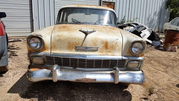56 Bel Air parts car  all parts for sale