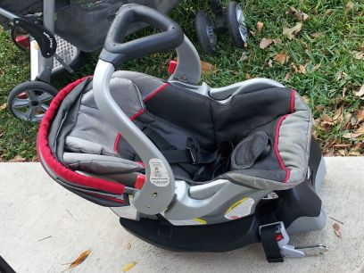 baby trend flex-loc carseat and double stroller - $100 (seguin )