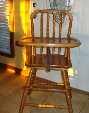 HIGH CHAIR, WOODEN JENNY LIND - $60 (Geronimo-SanMarcos-New Braunfels)