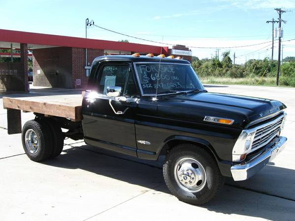 1968 Classic Ford F350 Dually W Custom Wood Flatbed $6000 OBO (Wimberley, Texas)