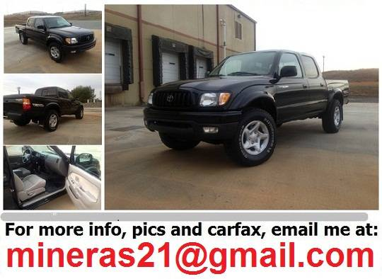 Spectacular2002Toyota TacomaBlack - $1980