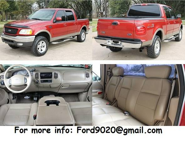 O.B.O 2002 Ford F-150 FX4 Lariat Runs Great - $1600 (san marcos)