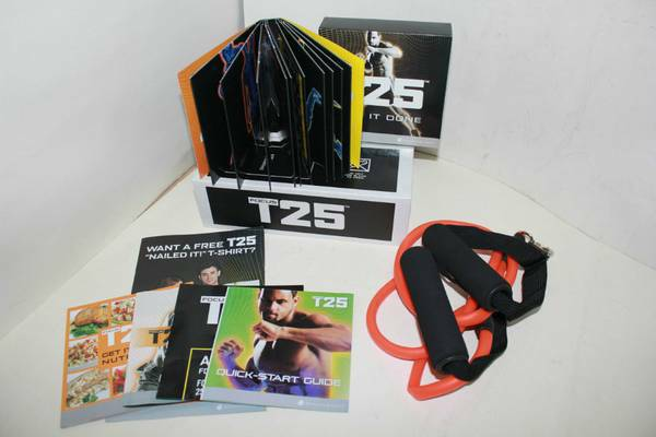 Shaun T s FOCUS T25 10 DVD Workout W Resistance Band  -   x0024 50  San Antonio