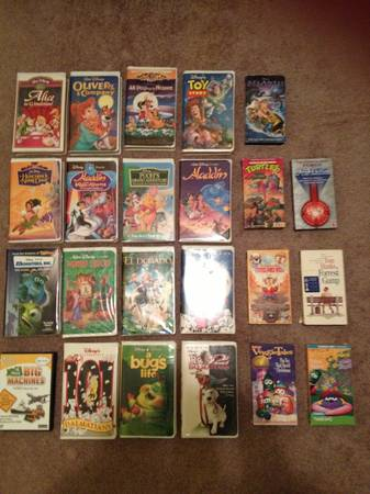 Large lot kids VHS movies -   x0024 8  Hwy 123