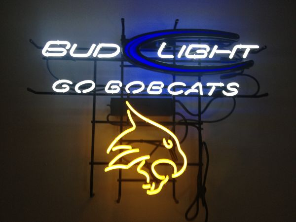 Neon Bar Sign (Texas State Bud Light) - $200 (San Marcos)