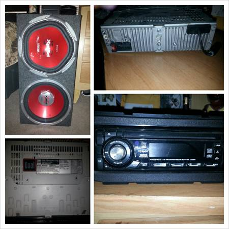 12 in Sony Xplod 1200w speakers  Dual HD Cd player - $375 (San Marcos)